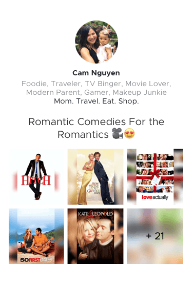 Cam's Romantic Comedies For the Romantics Movie List Preview Link