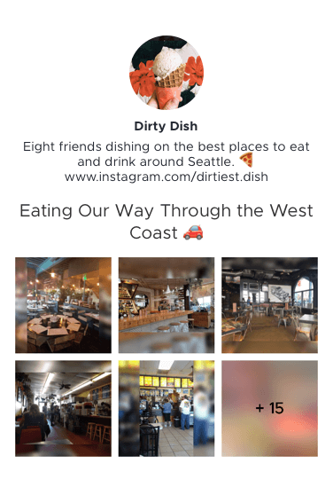 Dirty Dish's Eating Our Way Through the West Coast Restaurant List Preview Link