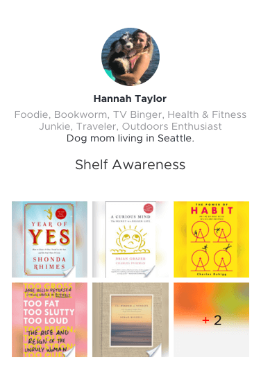 Hannah's Shelf Awareness Book List Preview Link